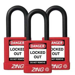 Lockout Padlock ka red 1 3 4 h pk3 Zing 7062