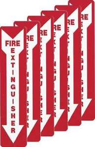 Fire Extinguisher Sign 18x4 pk6 Brady 51556