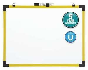 48 x72 Magnetic Steel Whiteboard Yellow Quartet 724127