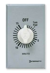 Timer spring Wound 15 Min dpst silver Intermatic Ff415m