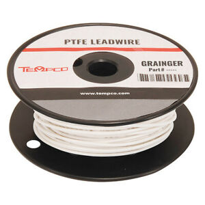 High Temp Lead Wire 18 Ga white Tempco Ldwr 1073