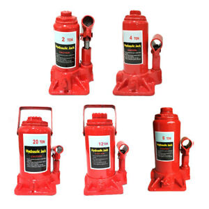 2 4 6 12 20 Ton Auto Car Hydraulic Bottle Jack Stand Low Profile Lift Tool