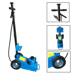 Heavy Duty 22 Ton Air Hydraulic Floor Jack Wheels Lift Truck Bus Shop Equipment