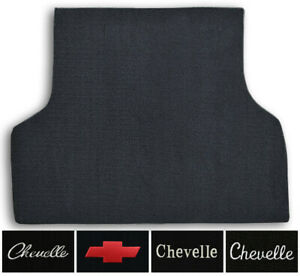 1970 1972 Chevrolet Chevelle Loop Carpet Logo Trunk Mat With Pad 1pc