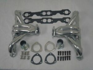 Small Block Chevy Ceramic Coated Hugger Headers Street Rod 350 400 Sbc New