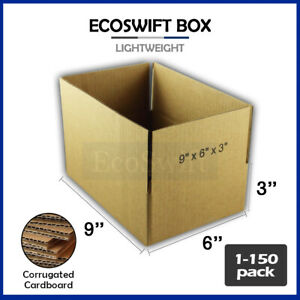 1 150 9x6x3 ecoswift Cardboard Packing Mailing Shipping Corrugated Box Ca