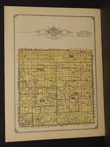 Minnesota Sibley County Map Sibley Transit Township 1914 W4 71