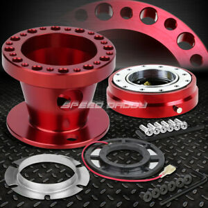 Red 6 hole Steering Wheel Hub Adaptor quick Release For Jdm Ae86 Sw20 Mr2 Mk4