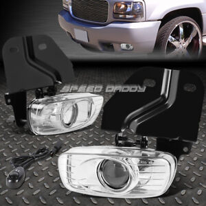 For 99 00 Escalade yukon 5 7 Crystal Lens Oe Bumper Fog Light Lamp Pair switch