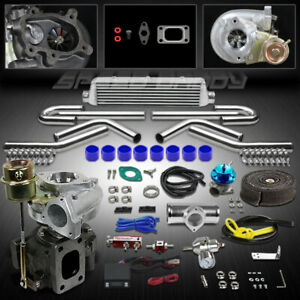 T25 T28 9p Universal Turbo Kit V Band Turbocharger W Wastegate Intercooler Timer