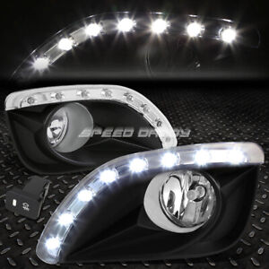 For 10 11 Toyota Camry Clear Lens Bumper Fog Light Lamps W Led Drl Bezel Switch
