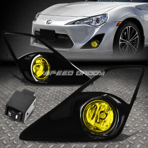 For 13 16 Scion Frs Amber Lens Bumper Driving Fog Light Lamps W Bezel Switch