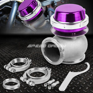Universal External 14 psi 45mm Turbo charger V band Wastegate Wg W spring Purple