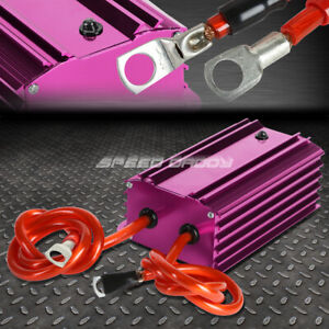 High Efficiency Universal Car Battery Voltage Stabilizer Regulator Cable Purple