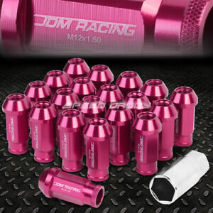 For Camry Celica Corolla Pink 20x 50mm Rim Anodized Wheel Lug Nut Adapter Key