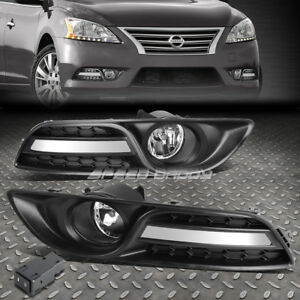 For 13 16 Nissan Sentra 4dr Clear Lens Oe Driving Pair Fog Light Lamp switch