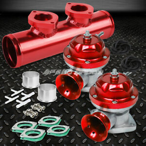 Adjustable Turbo Blow Off Valve Dual Type Rs 2 5 Flange Pipe Adaptor Psi Red