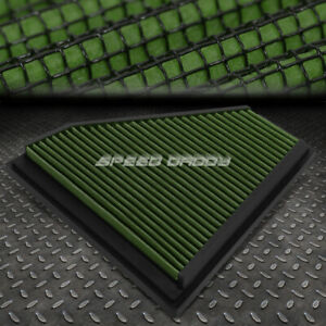 For 06 13 Bmw E90 3 series Green Reusable washable High Flow Drop In Air Filter