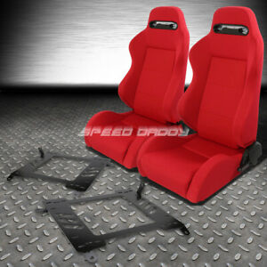 Pair Type R Red Reclinable Racing Seats Bracket For 00 05 Toyota Celica T230 231