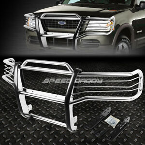 For 01 05 Explorer Sport Trac V6 Chrome Stainless Steel Front Bumper Grill Guard
