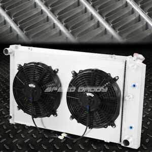 For 78 87 Chevy Camaro century cutlass 3 row Aluminum Racing Radiator fan Shroud
