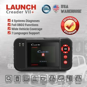 Launch Creader Vii Obd2 Car Diagnostic Scanner As Crp123 Abs Srs Engine Airbag