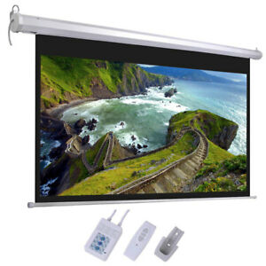 100 Projector Screen 16 9 Projection Hd Home Theater Electric Motorized Remot