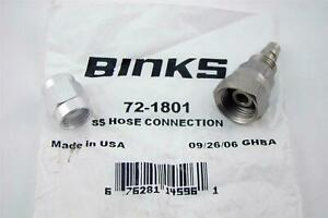 4 Binks Ss Hose Connection 72 1801