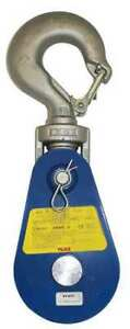 Yoke 8 502 08 Snatch Block Wire Rope Swivel Hook 3 4 Max Cable 8 Ton Max