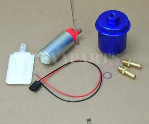 255lph In Tank Fuel Pump Blue Cleanable Filter Kit For 1988 2000 Honda Civic
