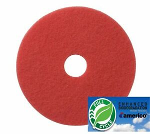 19 Red Floor Scrubbing Buffer Pads Box Of 5 Daily Cleaning And Spray Buffing