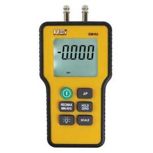 Uei Test Instruments Em152 Dual Differential Input Manometer 9v G4594926