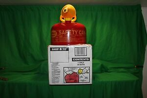 Type 1 Red Metal Steel Saftey Gas Can Container 1 Gallon With Funnel Ui 10 fs