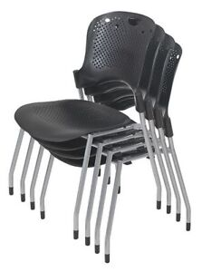 Balt 34554 Stack Chair black pk4
