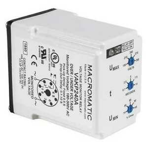 Voltage Monitor Relay 240vc Plug in Macromatic Vakp240a