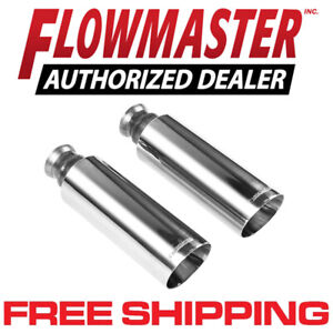 Flowmaster 15356 304s Polished Stainless Exhaust Tips 09 18 Dodge Ram 1500 5 7l