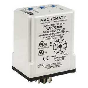 Voltage Monitor Relay 120vc Plug in Macromatic Vakp120a