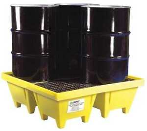 Drum Spill Containment Pallet 83gal yllw Enpac 5001 ye