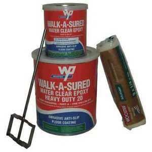 Wooster Products Was20 clr 1 Gal Kit Anti slip Floor Coating Epoxy Clear