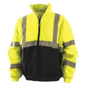Medium High Visibility Jacket Yellow Occunomix Lux 250 jb bym
