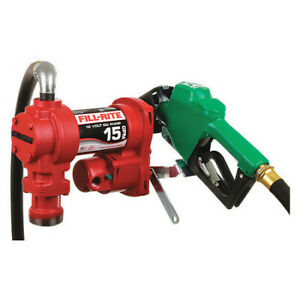Fill rite Fr1210ga1 15gpm 12 Vdc Fuel Transfer Pump With Hose And Automatic