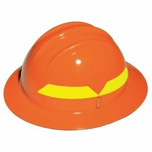 Fire Helmet orange full brim Bullard Fhorp