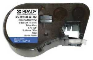 Brady Mc 250 342 yl Wire Marker Sleeves 84 In W 84 In L