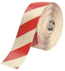 Mighty Line 4rwchvred Ind Floor Tape roll red white vinyl