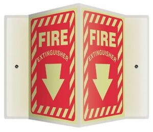 Sign fire Extinguisher 12x14 In Accuform Psp343