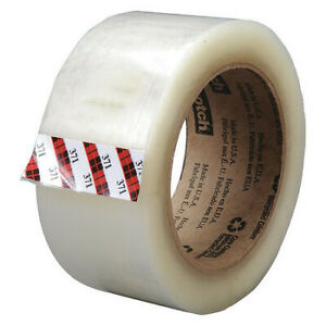 Scotch 371 Box Sealing Tape Clear 2 53 64in w Pk24