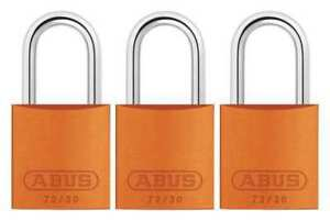Lockout Padlock ka orange 2 17 32 h pk3 Abus 72 30 Ka X 3
