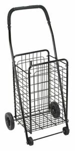 Folding Shopping Cart black four Wheeled Dmi 640 8213 0200