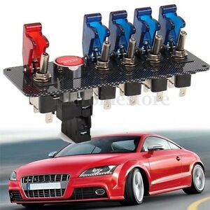 6 In 1 Racing Car Led Toggle Ignition Switch Panel Engine Start Push Button 12v