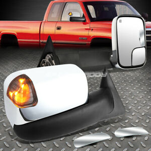 Power Heat Smoke Signal Towing Side safety Blind Spot Mirror For 94 01 Dodge Ram
